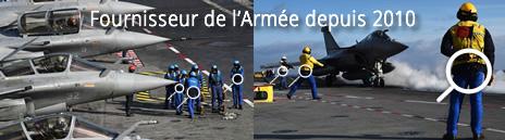 Fournisseur de ceintures lombaires gonflables pour l'Armée Française
